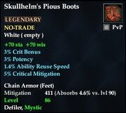 Skullhelm's Pious Boots