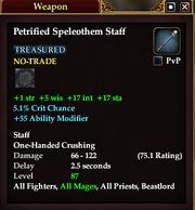 Petrified Speleothem Staff