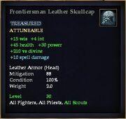 Frontiersman Leather Skullcap
