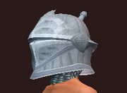Sentry's Hammered Helmet (Equipped)