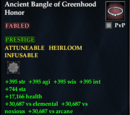 Ancient Bangle of Greenhood Honor