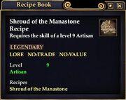 Shroud of the Manastone (Recipe)