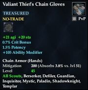 Valiant Thief's Chain Gloves