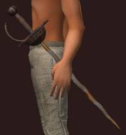 Blessed Iron Rapier (Equipped)