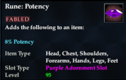 Rune- Potency