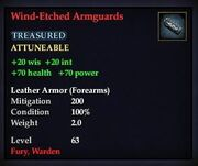 Wind-Etched Armguards