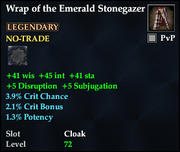 Wrap of the Emerald Stonegazer
