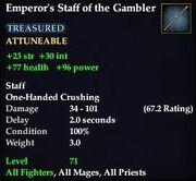 Emperor's Staff of the Gambler