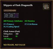 Slippers of Dark Dragonsilk