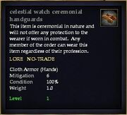 Celestial watch ceremonial handguards