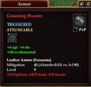 Groaning Bracers (Armor)