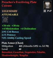 Preacher's Everliving Plate Cuirass