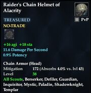 Raider's Chain Helmet of Alacrity