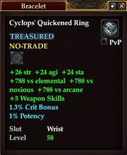Cyclops' Quickened Ring