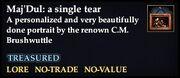 Maj'Dul - a single tear