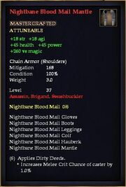 Nightbane Blood Mail Mantle