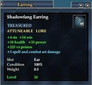 Shadowfang Earring