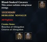 Blood-Soaked Greaves