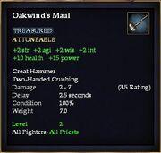 Oakwind's Maul