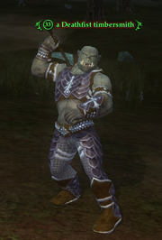 A Deathfist timbersmith