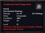 Awakened steel longsword