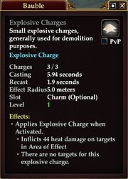 Explosive Charges