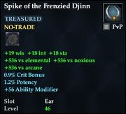 Spike of the Frenzied Djinn
