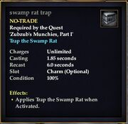Swamp rat trap