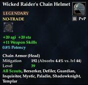 Wicked Raider's Chain Helmet