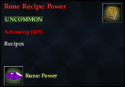 Rune Recipe- Power