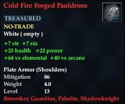 Cold Fire Forged Pauldrons