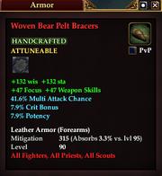 Woven Bear Pelt Bracers