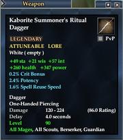 Kaborite Summoner's Ritual Dagger