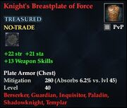 Knight's Breastplate of Force