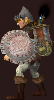 Bloody Brass Shield (Equipped)