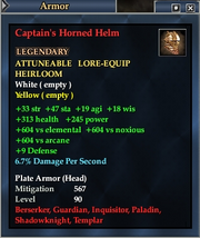 Captain's Horned Helm