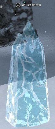 An ice shard