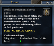 Coalition ceremonial forge pants