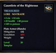 Gauntlets of the Righteous