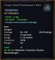 Green Hood Provisioner's Bow