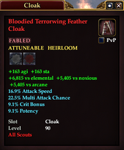 Bloodied Terrorwing Feather Cloak