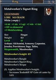 Metalworker's Signet Ring