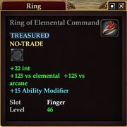 Ring of Elemental Command