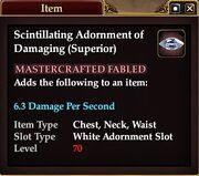 Scintillating Adornment of Damaging (Superior)