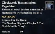 Clockwork Transmission Regulator