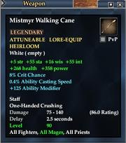 Mistmyr Walking Cane
