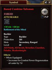 Runed Combine Talisman