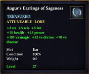 Augur's Earrings of Sageness