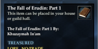 The Fall of Erudin: Part 1