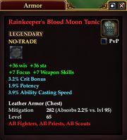 Rainkeeper's Blood Moon Tunic